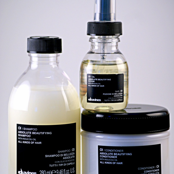 Davines Oi Shampoo, Conditioner and Oil for All hair Types